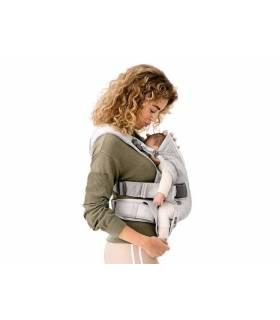 BabyBjörn Tragesitz ONE  3D-Mesh  - Silber (Bauchtrage & Rückentrage)