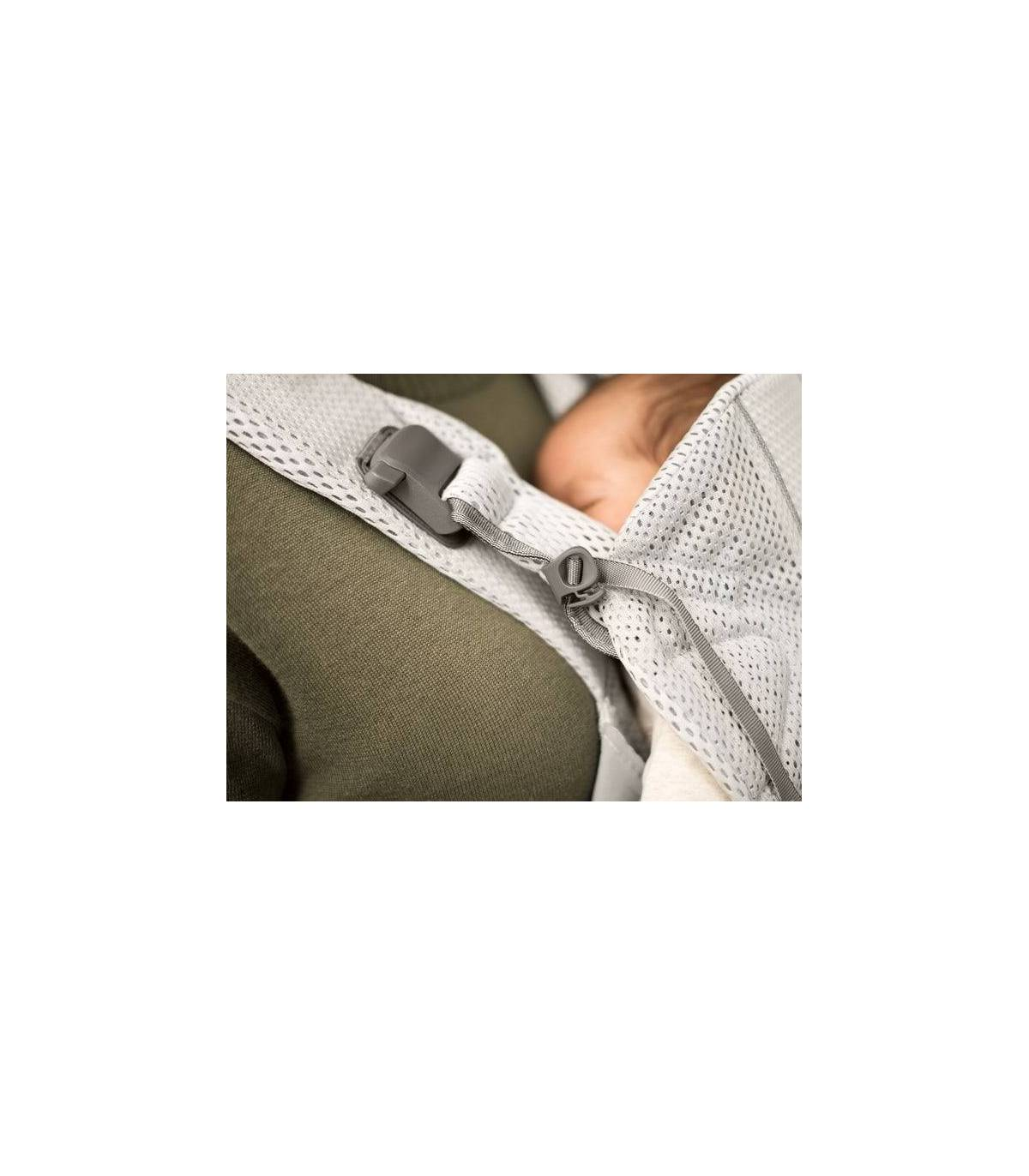 BabyBjörn Tragesitz ONE  3D-Mesh  - Schwarz (Bauchtrage & Rückentrage)
