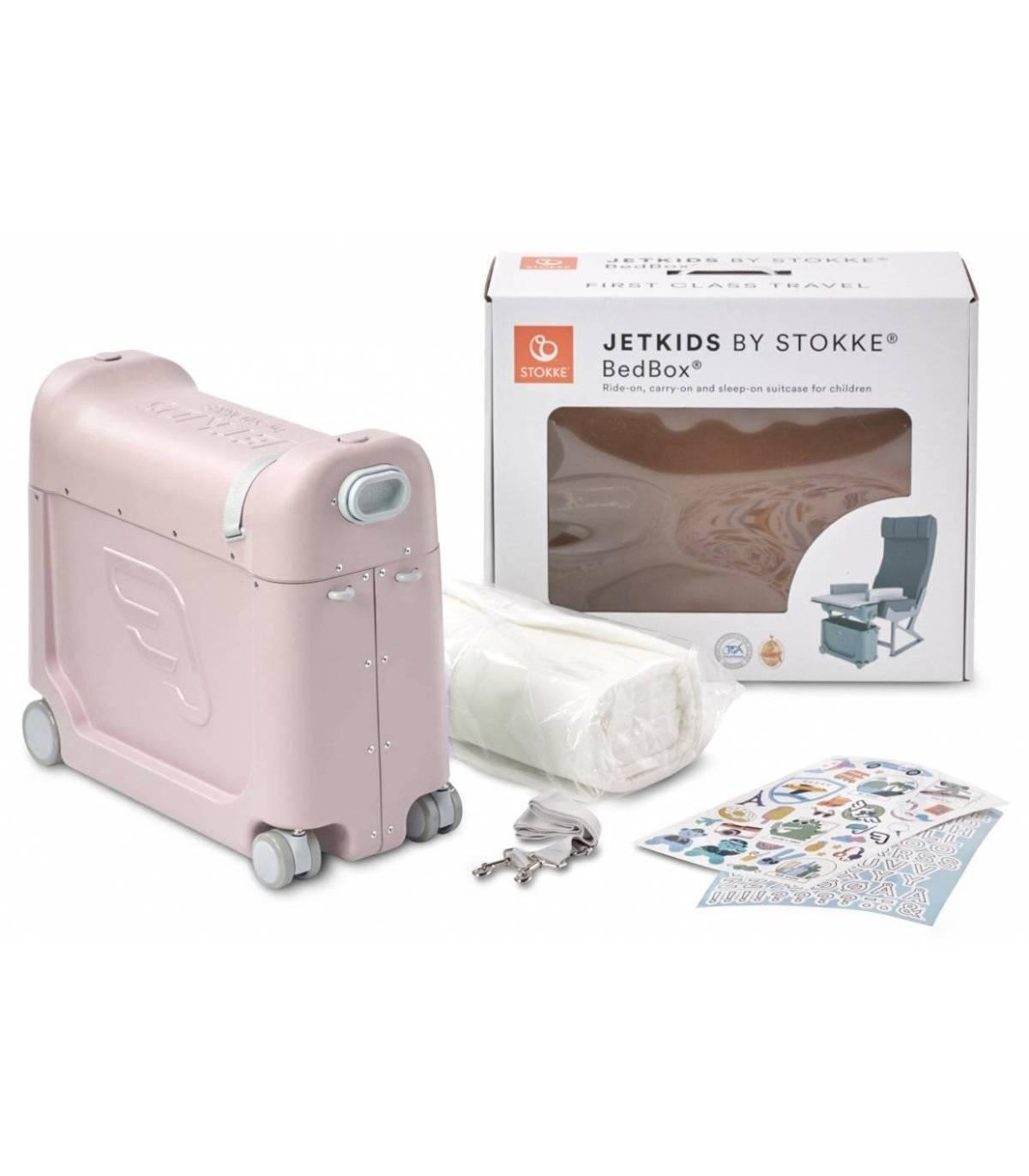 Stokke JetKids Bedbox Pink (Kinder-Koffer verwandelbar in Flugbett)