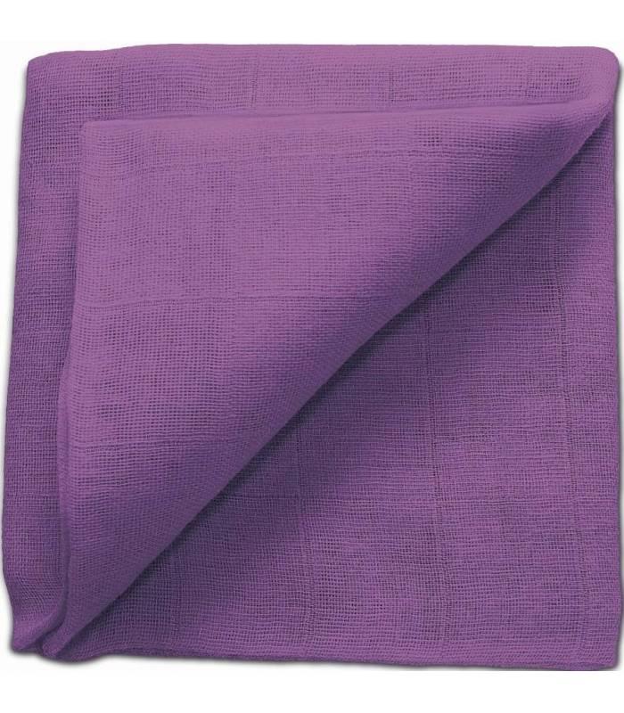 Zewi Bébé-Jou Baby Gaze UNI Bunt 60x60 (Nuscheli) Violett