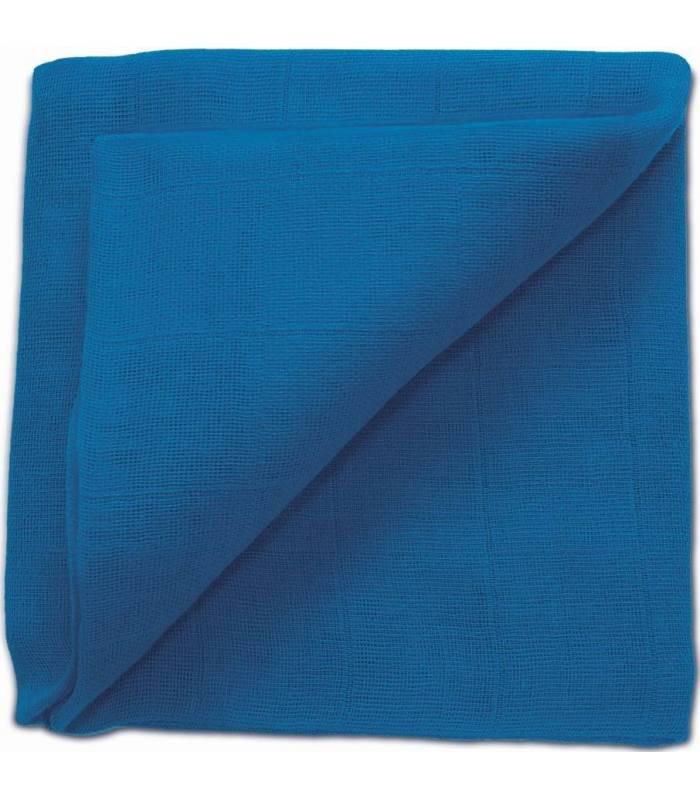 Zewi Bébé-Jou Baby Gaze UNI Bunt 60x60 (Nuscheli) Blau