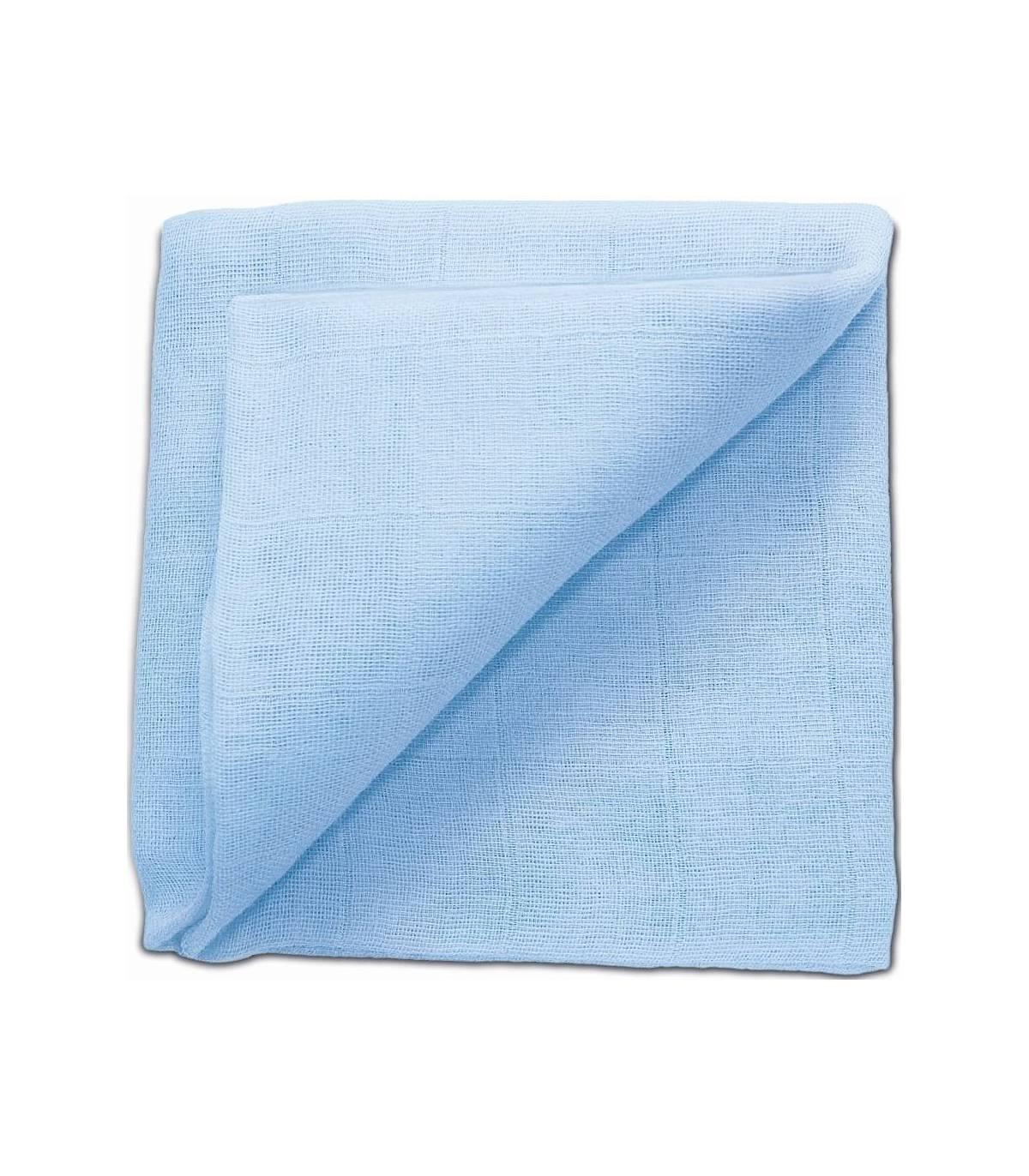 Zewi Bébé-Jou Baby Gaze UNI Bunt 60x60 (Nuscheli) Light Blue