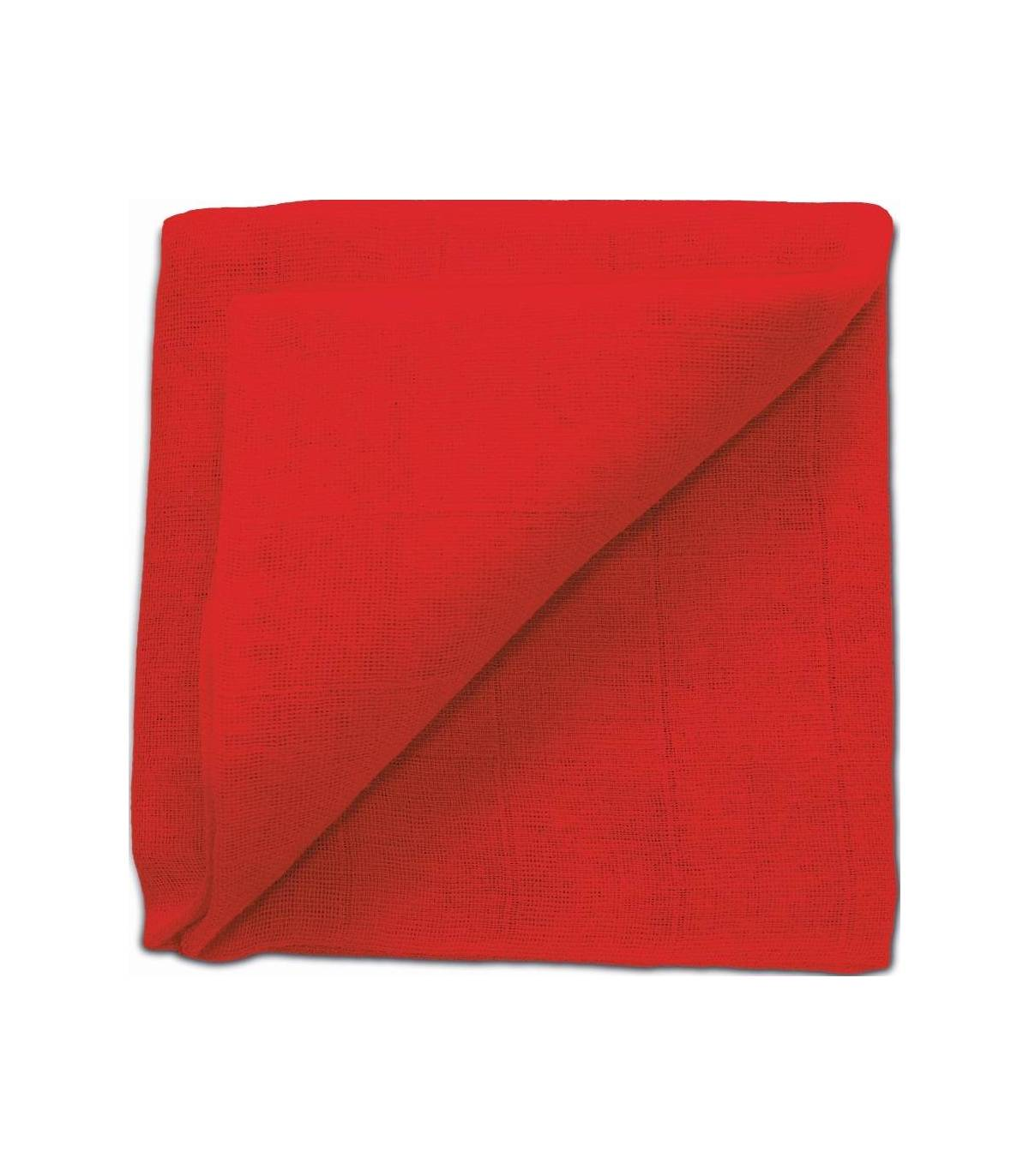Zewi Bébé-Jou Baby Gaze UNI Bunt 60x60 (Nuscheli) Rot
