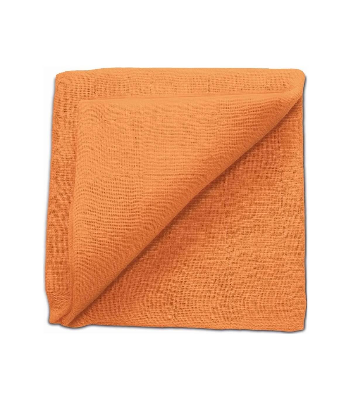 Zewi Bébé-Jou Baby Gaze UNI Bunt 60x60 (Nuscheli) Orange