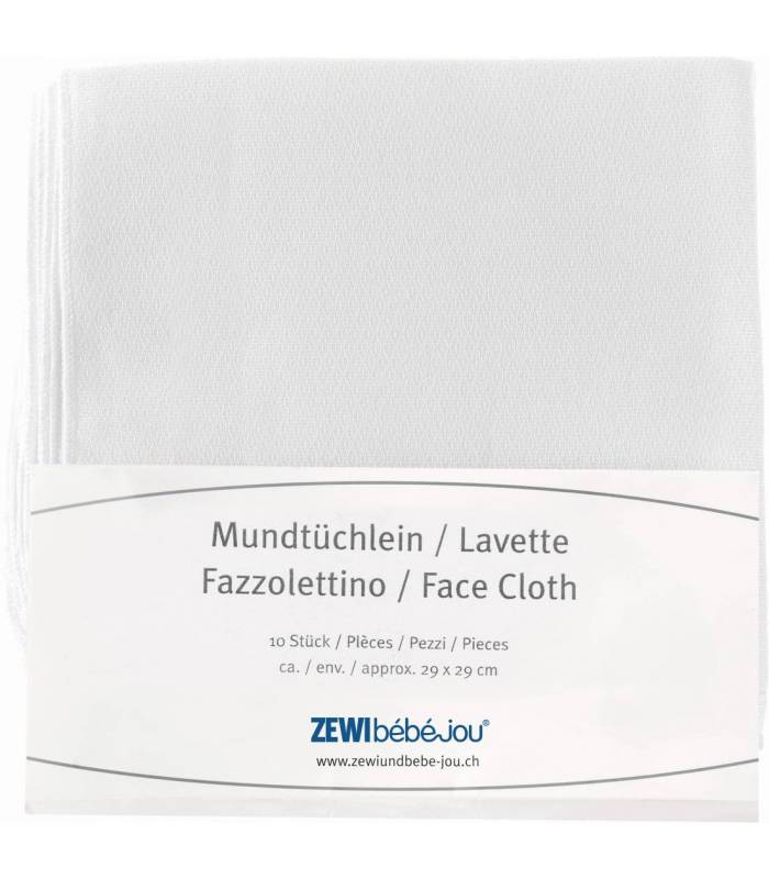 Zewi Bébé-Jou Mundtüchlein 29x29 10er Pack
