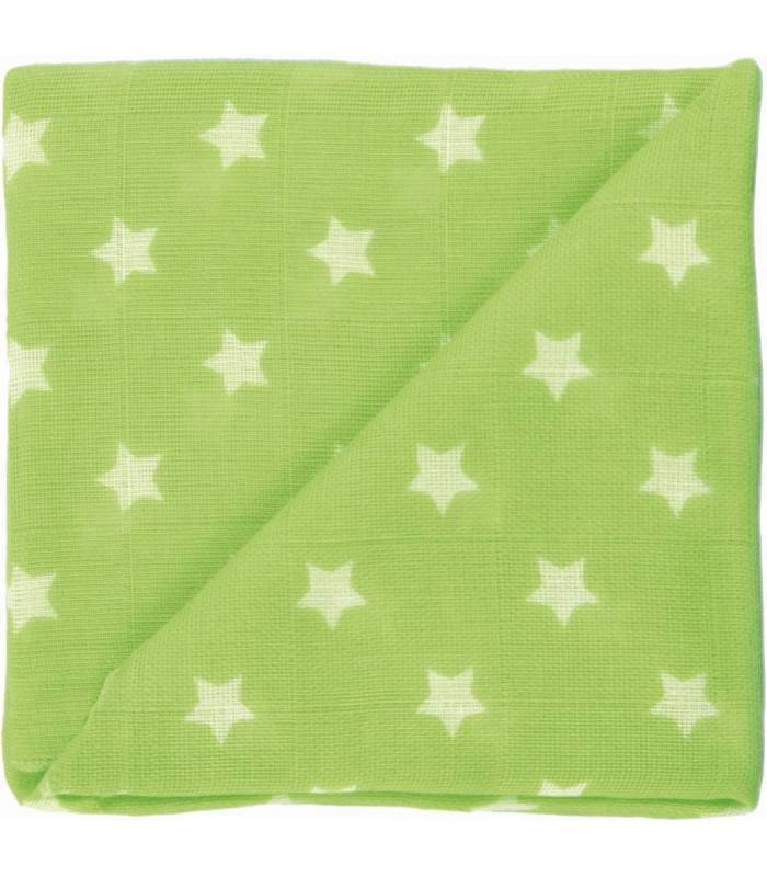 Zewi Bébé-Jou Baby Gaze Motiv Bedruckt 60x60 (Nuscheli) Linde Sterne