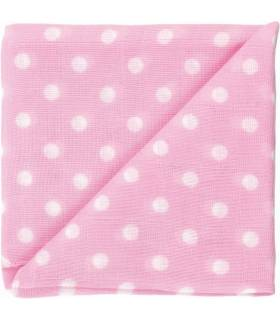 Zewi Bébé-Jou Baby Gaze Motiv Bedruckt 60x60 (Nuscheli) Rose Punkte