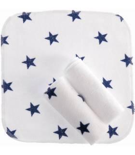 Zewi Bébé-Jou Waschtücher 3 Stück Navy Stars