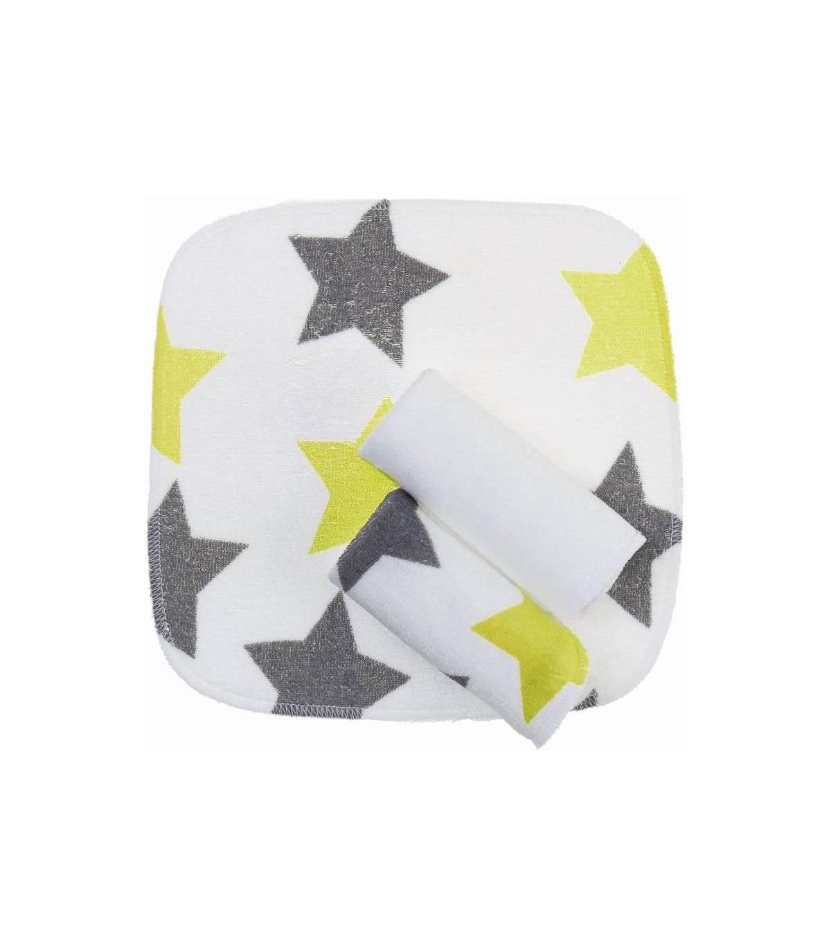 Zewi Bébé-Jou Waschtücher 3 Stück Lime Stars