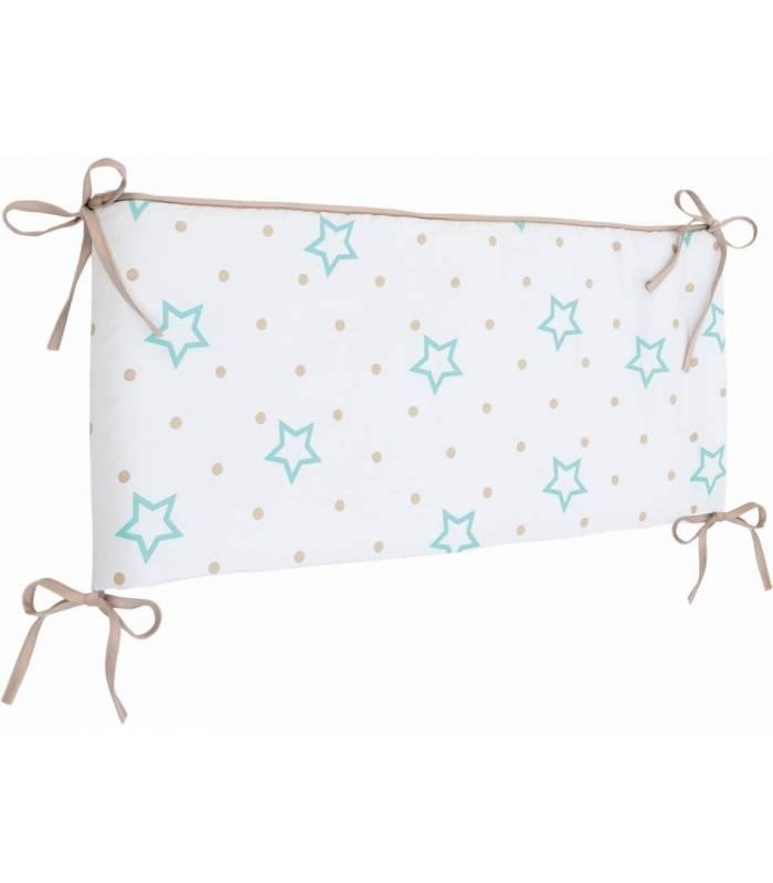 Zewi Bébé-Jou Nestchen / Kopfschutz White Stars & Points