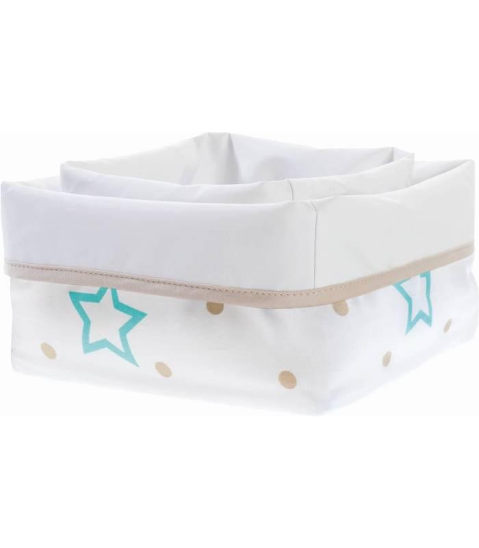 Zewi Bébé-Jou Soft-Pflegekörbchen White Stars & Points