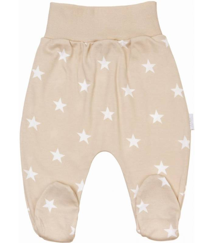 Zewi Bébé-Jou Baby-Pant Interlok (Strampelhöschen) Beige Stars