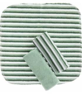 Zewi Bébé-Jou Waschtücher 3 Stück Grün