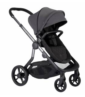 iCandy Orange Set Charcoal (Erweiterbarer-Kombi-Kinderwagen inkl. Babywanne)