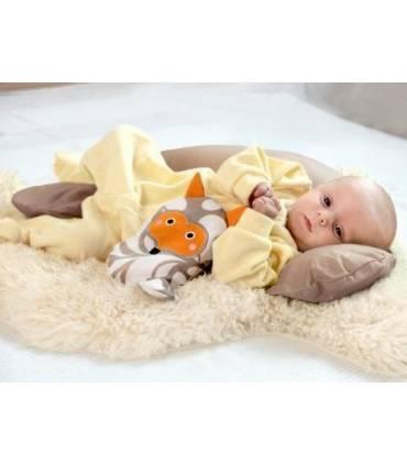 Zewi Bébé-Jou Baby- Lagerungskissen 100cm  (Mit Bezug) Gelb Uni