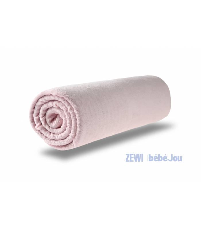 Zewi Bébé-Jou Fix Leintuch Frotté Rose