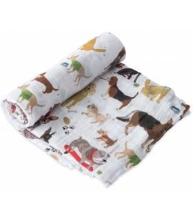 Little Unicorn Mullwindeln 120x120 (Nuscheli) Einzel Pack - Woof