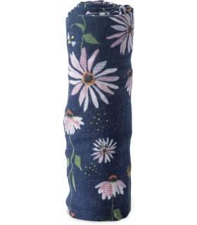 Little Unicorn Mullwindeln 120x120 (Nuscheli) Einzel Pack - Dark Cone Flower