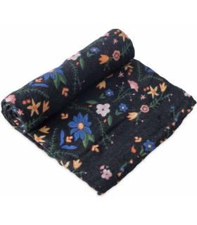 Little Unicorn Mullwindeln 120x120 (Nuscheli) Einzel Pack - Floral Stitch