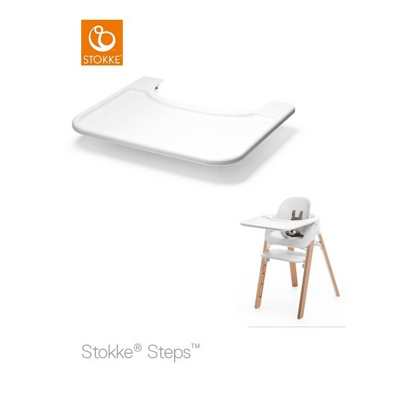 stokke steps tablett f r baby set weiss tray tisch 2343. Black Bedroom Furniture Sets. Home Design Ideas