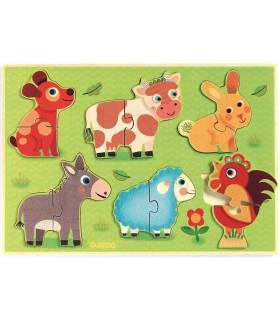 Djeco Steckpuzzle - Coucou Cow