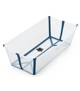 Stokke Flexi Bath XL (flexible Badewanne) - Transparent Blue