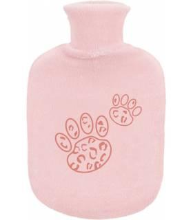 Zewi Bébé-Jou Gummibettflasche mit Frotteeüberzug Pink Leopard