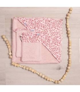 Zewi Bébé-Jou Muslin Waschhandschuhe Pink Leopard 3-STÜCK