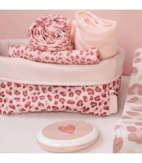 Zewi Bébé-Jou Pflegekörbchen Pink Leopard