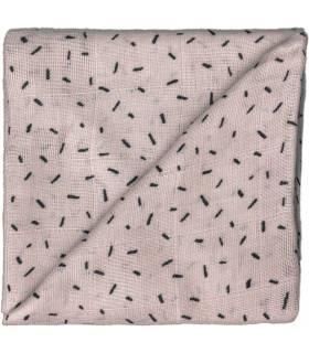 Zewi Bébé-Jou Baby Gaze Motiv Bedruckt 60x60 (Nuscheli) Taupe Splitter