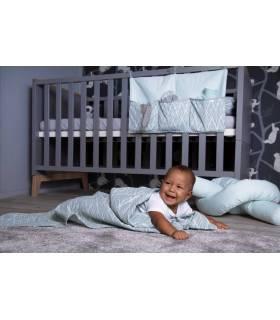 Zewi Bébé-Jou Baby Gaze GROSS Motiv Bedruckt 120x120 (Nuscheli) Mint Leaves