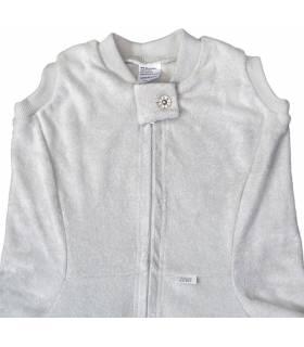 Zewi Bébé-Jou Fix-Decke Uni  (Reissverschluss-Vorne) Grau