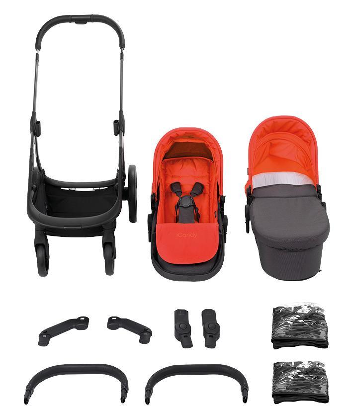 iCandy Orange Set Mercury (Erweiterbarer-Kombi-Kinderwagen inkl ...